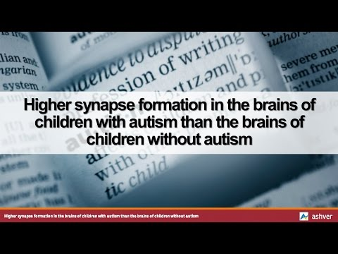 Higher synapse formation in the brains of children with autism than the brains of children without