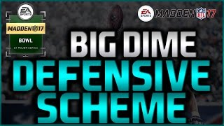 Madden 17: Big Dime 2-3-6 Full Scheme! Tampa 2/Buck Slant 3! Salary Cap Ranked Defense! #MaddenBowl
