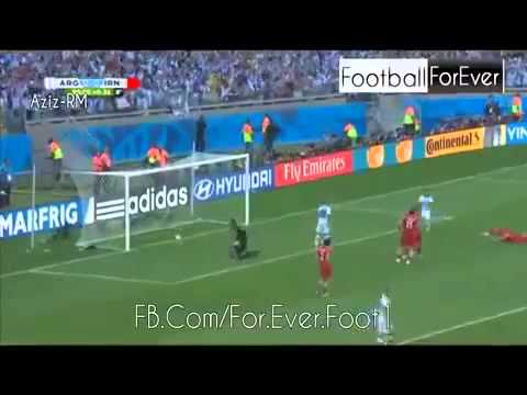 ARGENTINA 1 0 IRAN 2014 MESSI'S GOAL