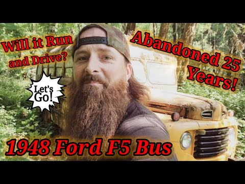 (8th) The video you been waiting for! We Drive this abandoned 1948 Ford F5 bus out of the forest! 🥳
