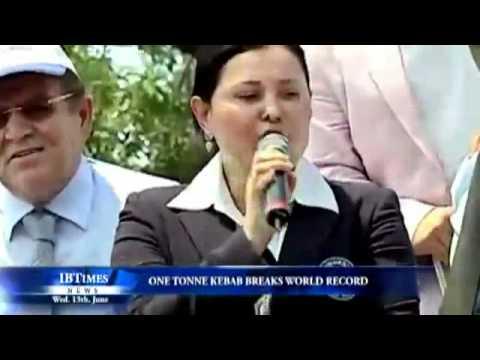 image vidéo 2012 Guiness world records kebab 1198kg