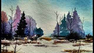 Watercolor Landscape Tutorial | How to paint a watercolor landscape  | Paint with david |