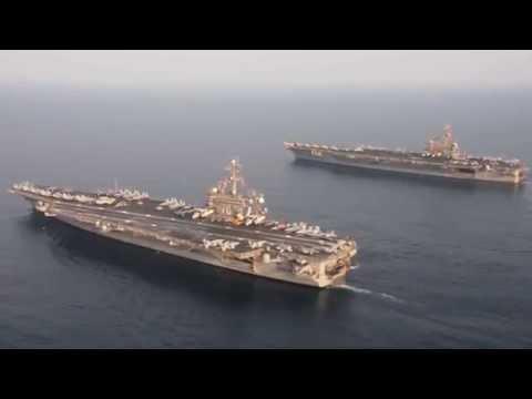 USS Carl Vinson (CVN 70) relieves USS George H.W. Bush (CVN 77) in Arabian Gulf