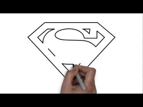 Видео как нарисовать Супермена карандашом поэтапно