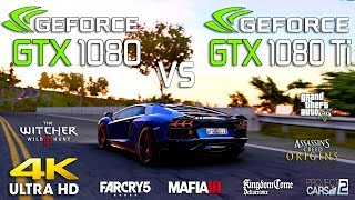 GTX 1080 Ti vs GTX 1080 Test in 7 Games l 4K l