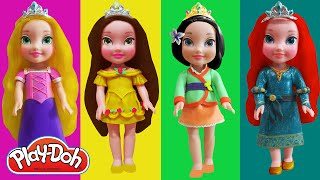 Play Doh Disney Princesses Toddler- Belle, Mulan, Rapunzel, Merida Inspired Costumes