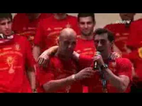 Presentacion de Pepe Reina a los jugadores del mundial 2010