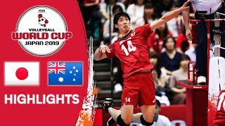 JAPAN vs. AUSTRALIA - Highlights | Men's Volleyball World Cup 2019