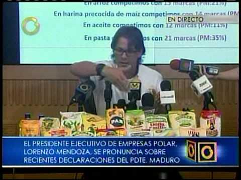 Lorenzo Mendoza: Es imposible que el 48% que producimos, abastezca el 100% del mercado