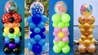 Dollar Store Balloon Columns! Triple-Stuffed