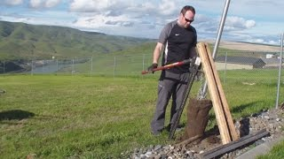 How to Remove a Fence Post in under 5 minutes...Easy