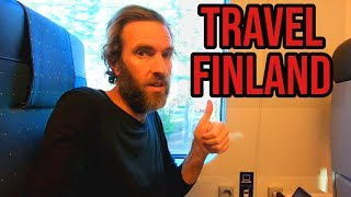 HOW TO TRAVEL FINLAND | A Train Journey In The Snow