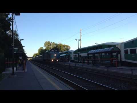 High Speed VIA Rail Train At Long Branch Station