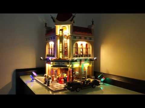 Lego 10232 Palace Cinema LED licht demo