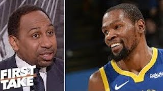 Stephen A Kevin Durant's performance against Rockets was 'disgraceful'  First Take