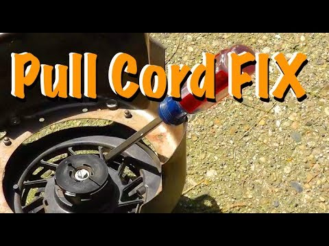 Fixing the starter pull cord on a lawn mower