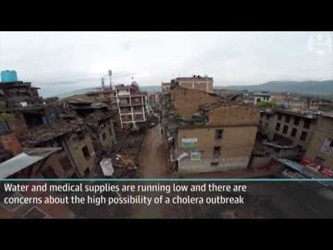 Nepal earthquake  drone footage shows devastation in ancient town of Bhaktapur   video   World news