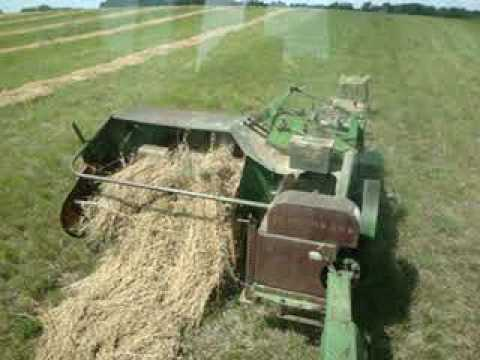 Baling Hay With The John Deere 24T Square Baler And 4320 ...