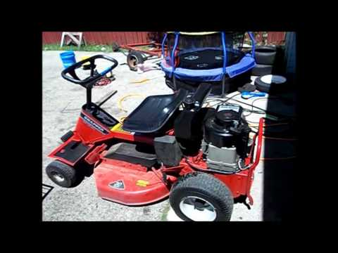 snapper lawn mower cold starts and update