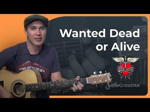 Wanted Dead Or Alive - Bon Jovi - Easy Acoustic Song Guitar Lesson (BS-702) How To Play