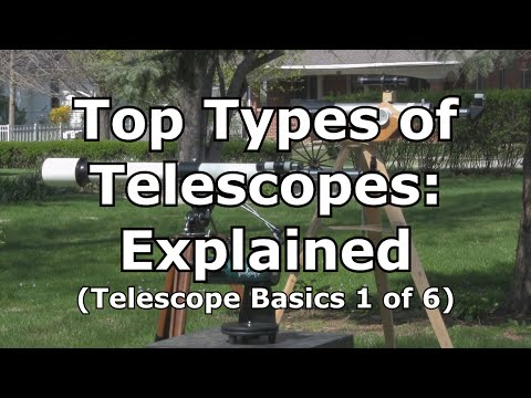 Telescope Basics 1 (of 6): Types of telescopes