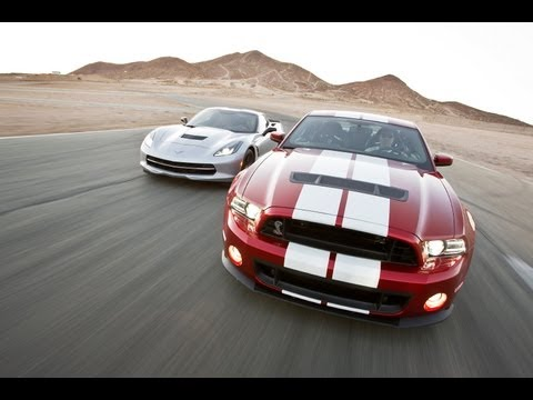 Track Tested: 2014 Corvette Stingray vs Shelby GT500 -- Edmunds.com Music Videos