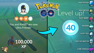 Pokémon GO | How To Hit Level 1 - 40 F2P In 30 Days Using ONLY Friendship! | 20 Million XP In 1 Day!