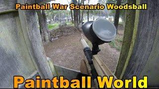 Paintball War Scenario Woodsball    GoPro Paintball Tippmann
