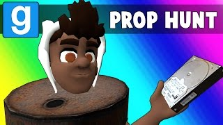 Gmod Prop Hunt Funny Moments - Barrel Room Strategy! (Garry's Mod)