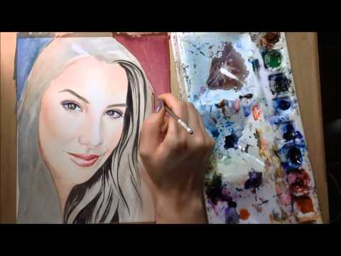 Speed Painting - Emily Eddington Watercolor Portrait