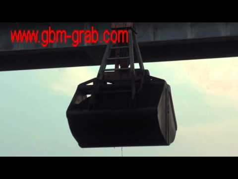 GBM operation of four ropes machanical clamshell grab for coal loading