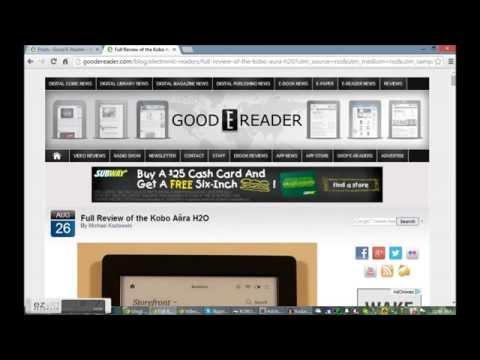How to Load eBooks on the Kobo Aura H2O