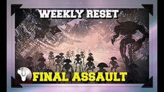 [PS4]Destiny 2 Live stream|Weekly Reset Raids & More|Final assault Vex Offensive|road to 2k Sub