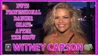 DWTS Pro Dancer Witney Carson Chats After The Show H2940