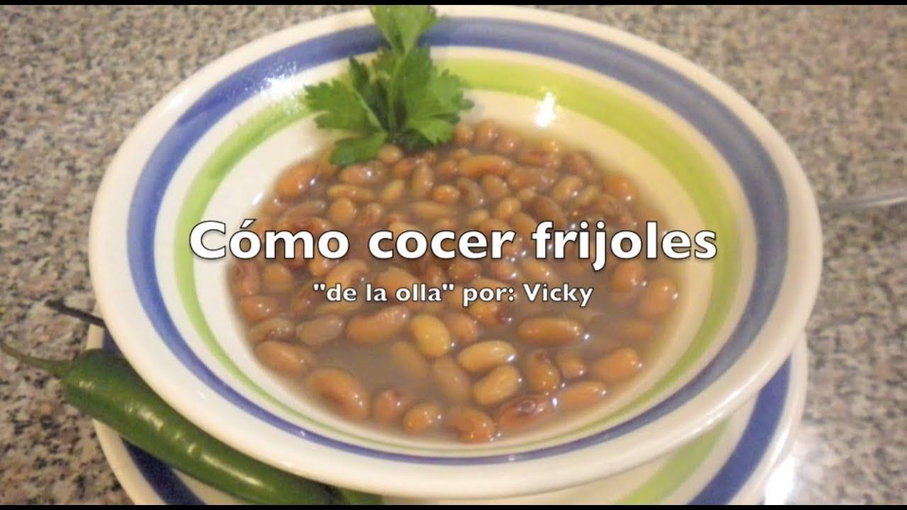 Frijoles de la Olla Receta Mexicana Como Cocer Frijoles de la Olla