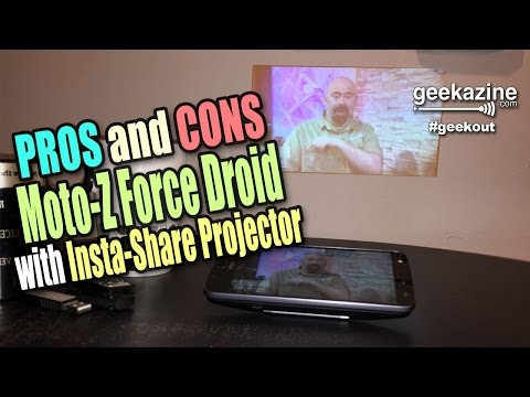 Moto-Z Force Droid with Insta-Share Moto Mods Video Review