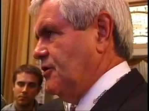Newt Gingrich Outraged Over Amy Goodman's Tough Questions in 1995 Over GOP's 'War on Women'
