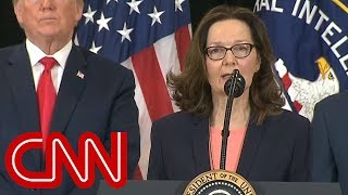Gina Haspel sworn-in as first female CIA director