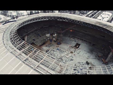 NEWSCOPTER -   Реконструкция стадиона Лужники (ФЕВРАЛЬ 2016) 4K