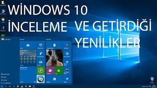 Windows 10 Yenilikleri