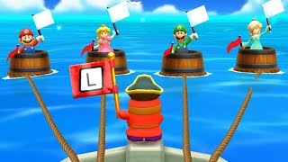 Mario Party The Top 100 Minigames - Mario Vs Peach Vs Luigi Vs Rosalina All Minigames (Master Cpu)
