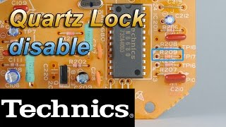 Technics 1200 1210 | Desactivar control cuarzo | Quartz lock disable