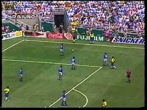 """Coppa del Mondo FIFA 'Usa 1994' - Finale Telecronaca secondo tempo (commento Bruno Pizzul e Carlo Nesti) 17/07/1994 - Pasadena, """"Rose Bowl Stadium"""" ITALIA-Br..."""