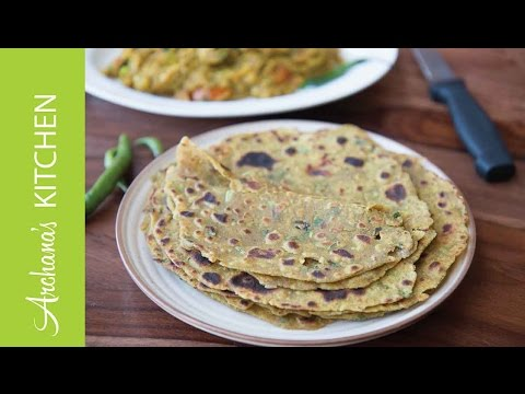 Gehu Bajra Thepla Recipe (Spiced Peal Millet Flat Bread) by Archana's Kitchen Photo Image Pic