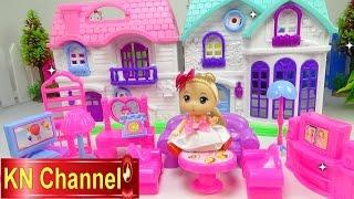 Đồ chơi trẻ em Bé Na Nhà búp bê Chibi review Ngôi nhà hạnh phúc Baby doll DollhouseKids toys
