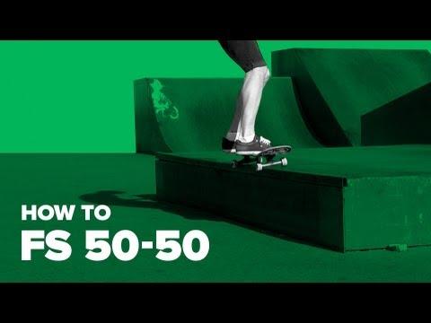 Как сделать fs 50-50 на скейте (how to fs 50-50 on skateboard)