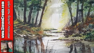 Painting Rivers and Reflections in Watercolour