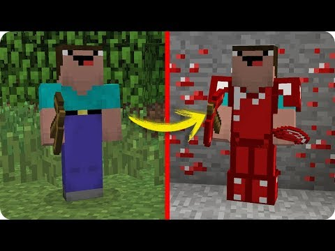 NOOB MINECRAFT VS DIAMANTE ROJO MÁGICO TROLL NOOB CONSIGUE SUPERPODERES EN MINECRAFT