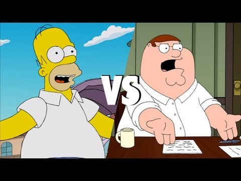 Homer Simpson Vs. Peter Griffin video