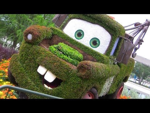 2013 Epcot Flower & Garden Festival Lightning McQueen Mater Cars Land with Monsters University